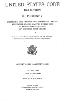 United States Code - 1958
