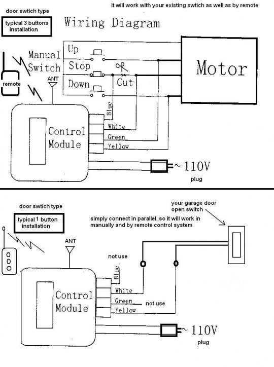 chamberlain garage door safety sensor wiring diagram 347zfkv5kma3ldz93tmosg?resize=540%2C724 extraordinary garage door wiring schematic images wiring  at fashall.co
