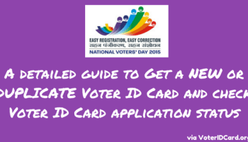 How to apply for New or Duplicate Voter Card or Check Status?