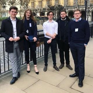The Team receiving the UK Parliament Digital Democracy Award from John Bercow