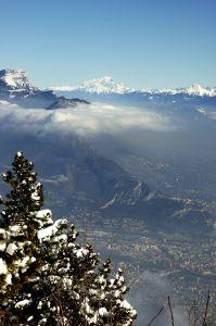 La vallée du Grésivaudan depuis les hauteurs de Grenoble