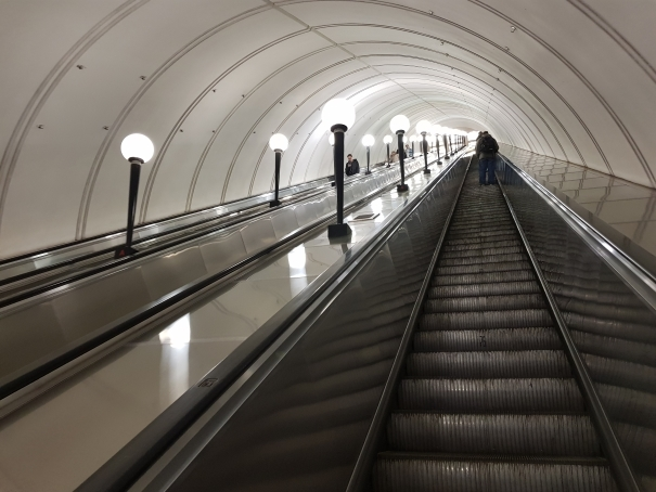 Escalier mecanique metro moscou