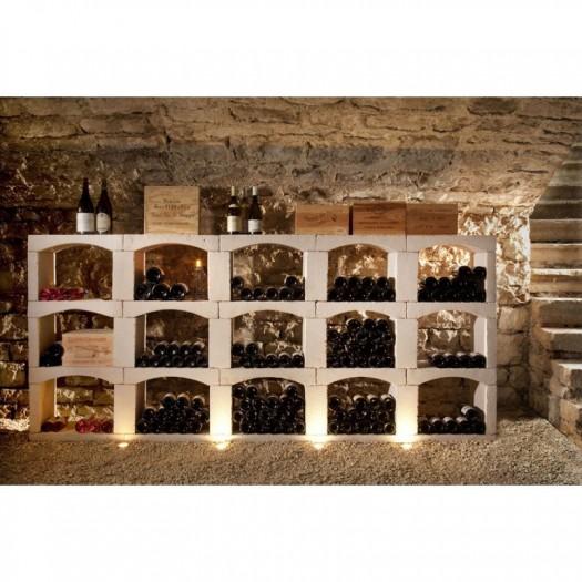 inovo vinho casiers a bouteilles en pierre reconstituee module de 480 bouteilles composition n 8