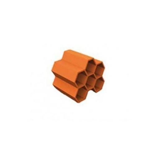 bouyer leroux structure casier a bouteille en terre cuite 6 bouteilles ref 2801
