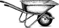 5 outils incontournables di jardinage - la brouette