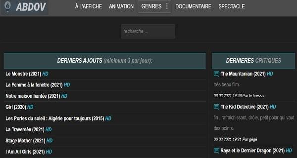 Abdov dans les meilleurs site de streamnig gratuit en français