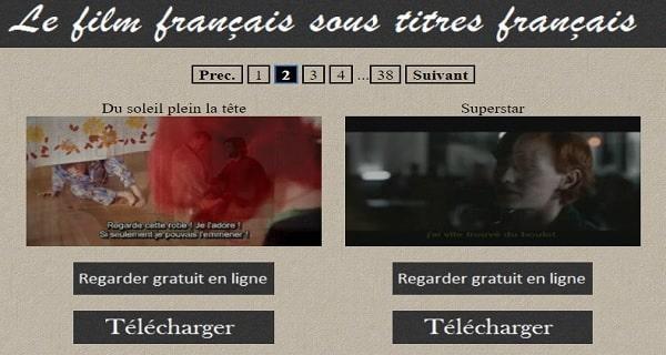 Film français sous titres français dans les meilleurs sites de streaming gratuits