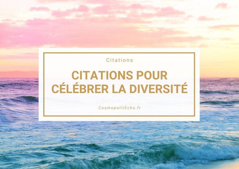 Read more about the article Les 12 plus belles citations célébrant la diversité culturelle, nos différences et l'inclusion