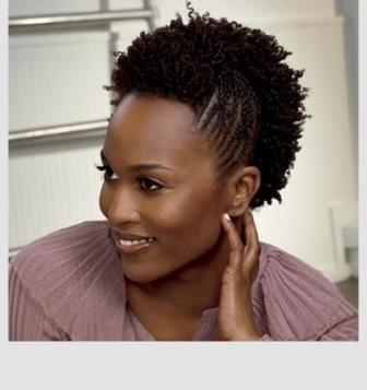 Afro braided mohawk -idées coiffures cheveux crépus