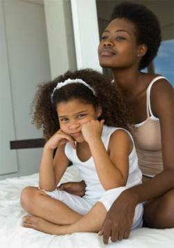 Mére et fille naturelles crépues