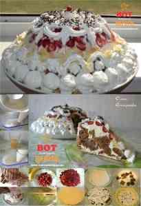 торт с клубникой