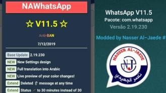 Na WhatsApp atualizado 11.5
