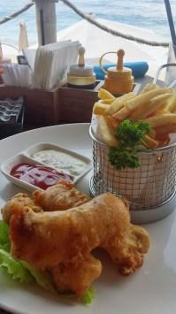 Fish and Chips Finns Beach Club