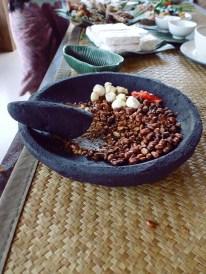 Paon Cooking Class Ubud Making Peanut Sauce 2