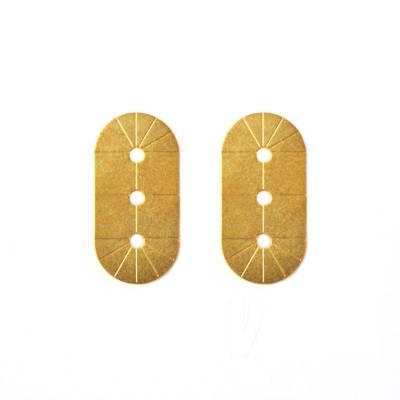 boucles d'oreilles puces laiton doré or fin 24 carats alma vous mademoiselle