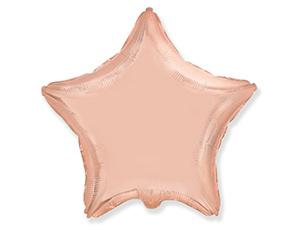 Фольгированная звезда РОЗОВОЕ ЗОЛОТО