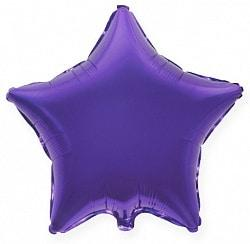 Фольгированные шары Звёзды металлик фиолетовый
