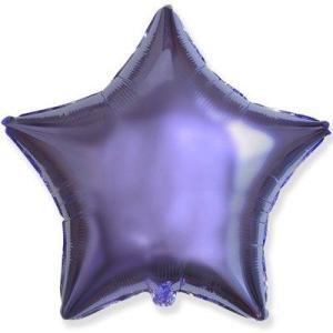 Фольгированная звезда сиреневый металлик
