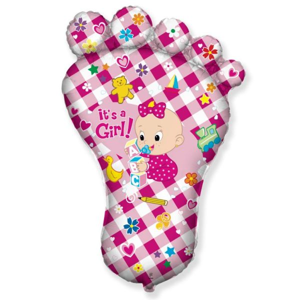 Стопа девочки розовая