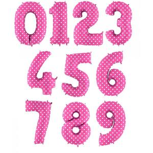Цифра Розовая в горошек