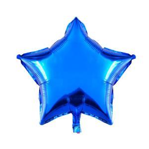 Фольгированные шары Звёзды металлик синий