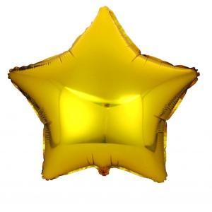 Фольгированные шары Звёзды металлик золото