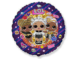 Фольгированный шар Куклы Лол