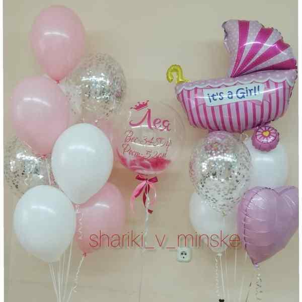 Комплект шаров на выписку №12