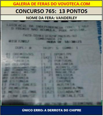 765 13P VANDERLEY