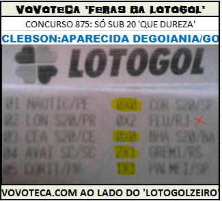 LOTOGOL 875 4AC CLEBERSON