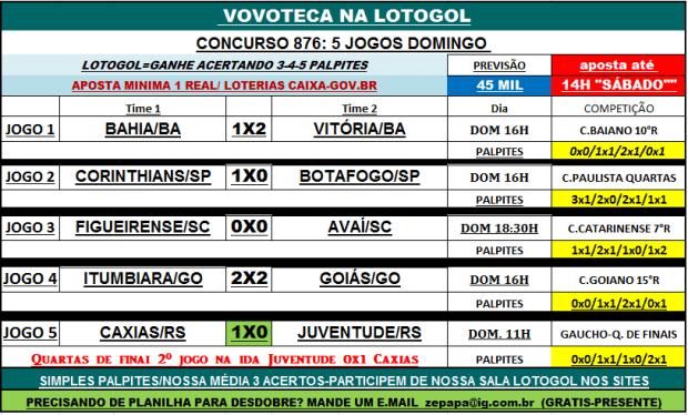 lotogol 876