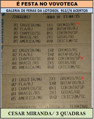 lotogol 912 quadras cesar