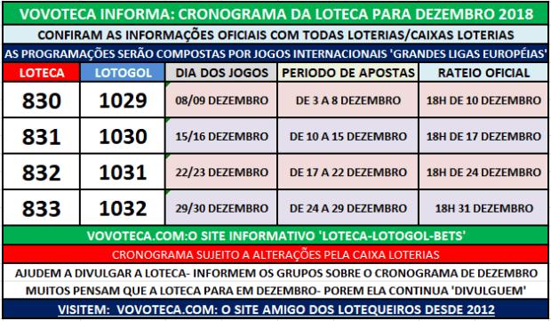 829 CRONOGRAMA DEZEMBRO