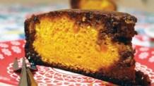 Bolo de cenoura com laranja, um bolo fitness, porém, gostoso