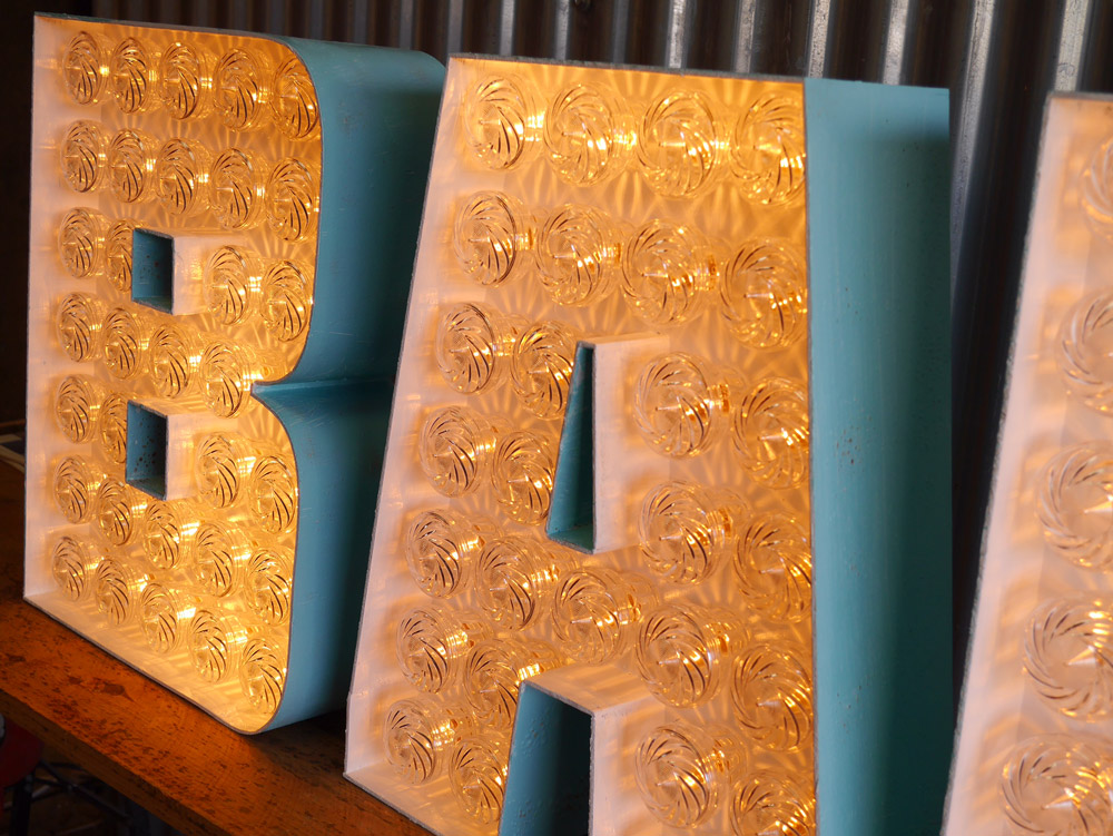 Bar Light Up Letters For Hire