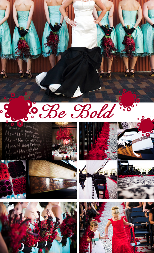 red-black-wedding-board