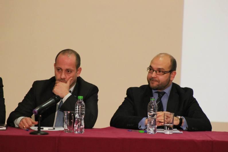 Двамата млади политици на едно от събранията на Реформаторския блок през 2013 г.