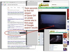 Google search links to online piracy