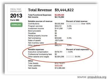 EFF Revenues 2013 - Propublica