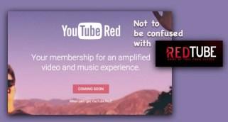YouTube Red not RedTube