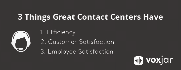 efficiency, customer satisfaction, employee satisfaction