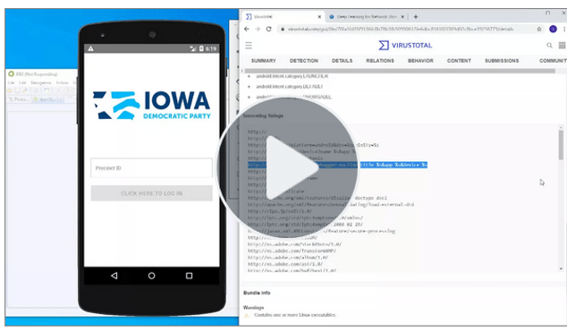 What's Up with the Iowa Voting App