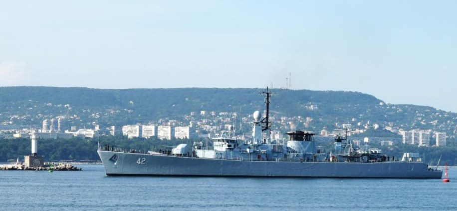 """Verni"" one of three Wielingen class frigates under commission in Buglaria's Navy. It was purchased from Belgium in 2004, but was manufactured in 1977."