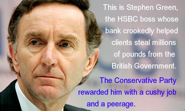 With people like this in charge of banks - and then going on to important roles in Conservative-led governments, can either the banks or the government be trusted to do what's right for UK citizens?