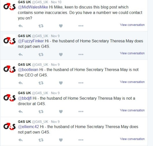Vehement: These are just a few of the tweets coming from G4S regarding the claims.