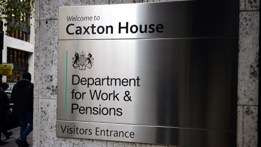 The Department for Work & Pensions office in London, as the department has been rebuked by the statistics watchdog over a claim that more than 12,000 households have found work or stopped welfare claims because of the benefit cap.