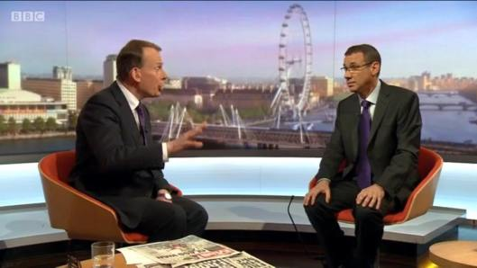 Andrew Marr interviews Israeli ambassador Mark Regev - and drops a huge falsehood into the discussion while he's at it.