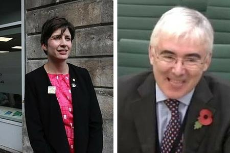 Alison Thewliss (left); Lord Freud (right).