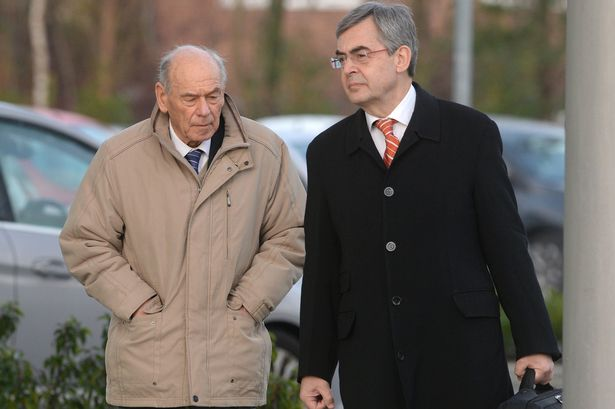 Former Assistant Chief Constable of South Yorkshire Police Walter Jackson (left), with barrister Andrew Nuttall [Image: Liverpool Echo].