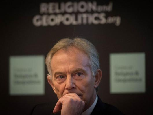 "Former prime minister Tony Blair takes part in a discussion on Britain in the World in central london, where he admitted the West ""underestimated"" the problems in Iraq after the toppling of Saddam Hussein as he called for British ground troops to return to the region to take on Isis [Image: PA ]."